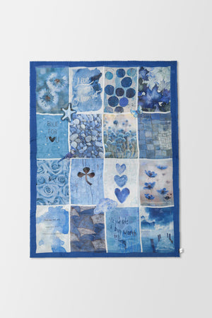 Faliero Sarti Blu For You Scarf Blue