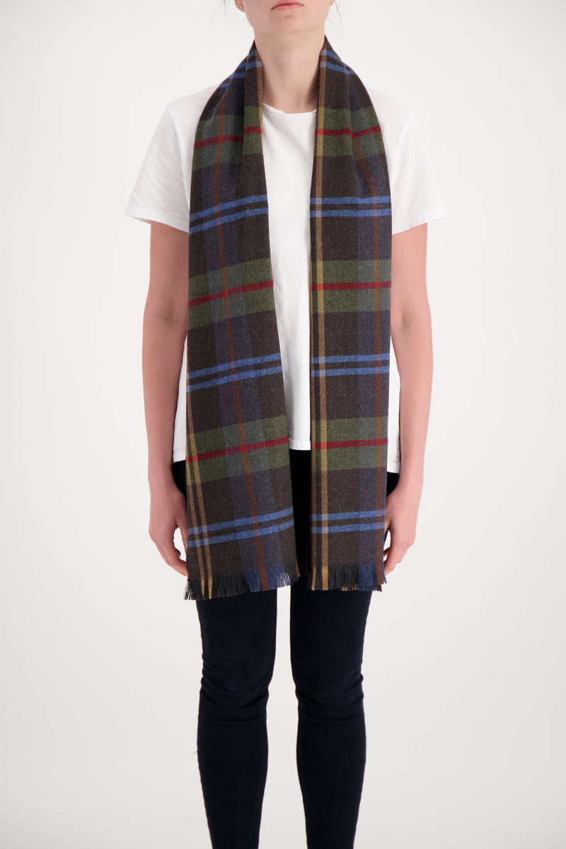Joshua Ellis Tweed check and tartan Charcoal, Dark blue and Camel