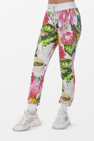 Philipp Plein Jogging Trousers Flowers White