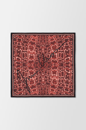 Jimmy Choo Foulard Scarf Red