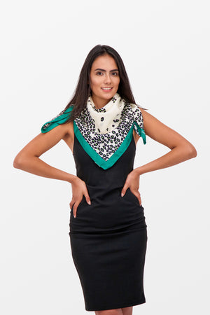 Jimmy Choo Foulard Scarf Green