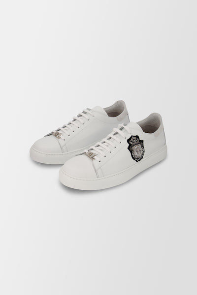 Billionaire Lo-Top Sneakers Crest shoes White