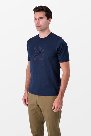 Zilli T-Shirt Lion Navy