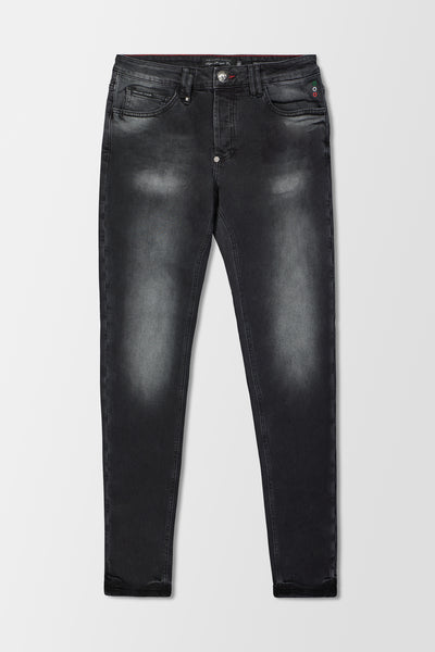 Philipp Plein Super Straight Cut Statement jeans Dirty Eyes
