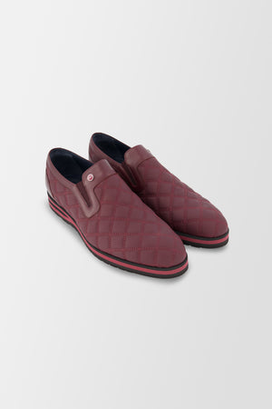 Zilli Boston Matelasse shoes Chianti/Bordeaux
