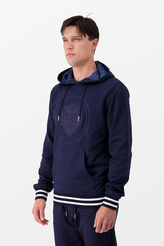 Billionaire Hoodie Luxury Dark Blue