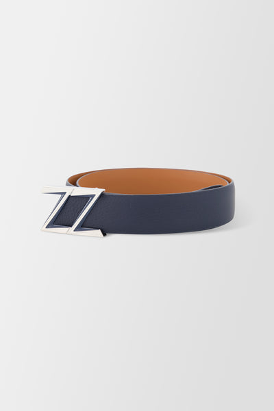 Zilli Boston Z Buckle Belt 35mm Blue