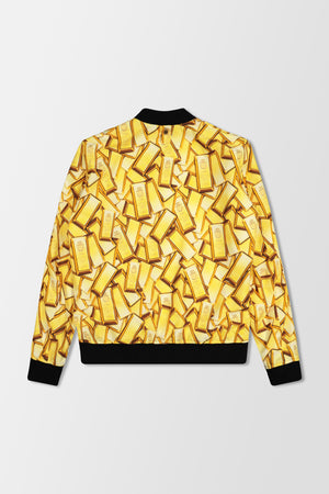 Billionaire Bomber Jacket Gold