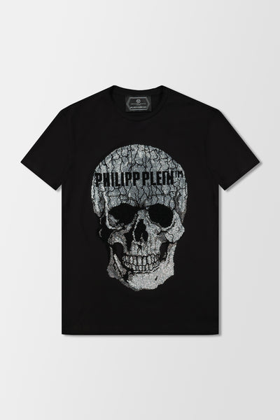 Philipp Plein T-shirt Round Neck Skull Black