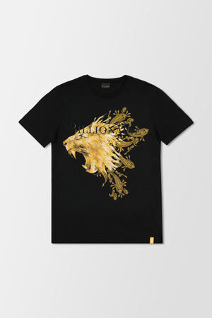 Billionaire Polo Lion SS T-Shirt Black/Gold