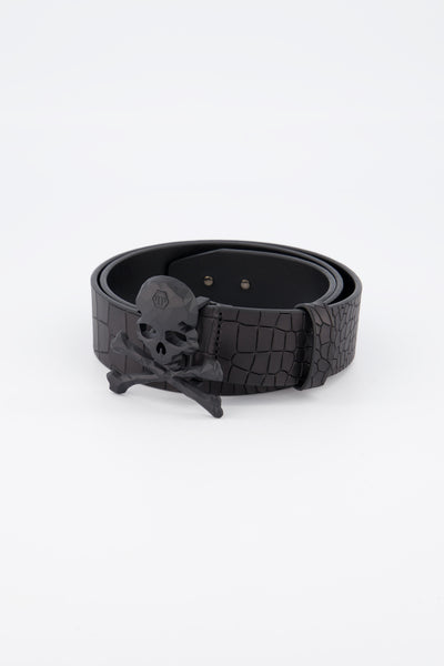 Philipp Plein Belt Skull Black