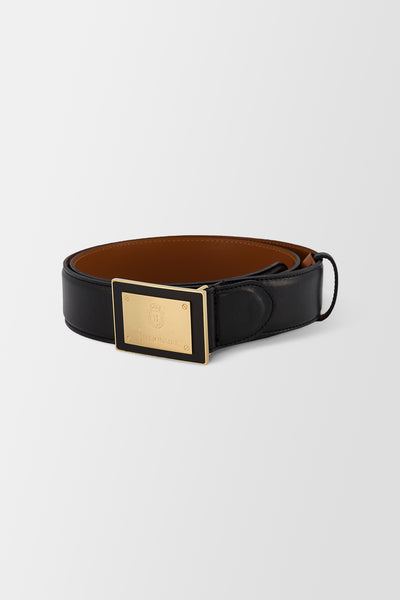 Billionaire Belt Logos Black Gold