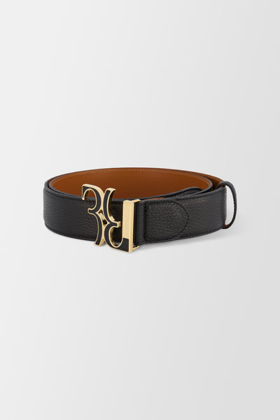 Billionaire Belt Double B Black Gold