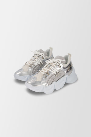 Philipp Plein Runner Crystal shoes Silver