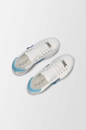 Philipp Plein Lo-Top Sneakers Phantom Kick$ Light Blue