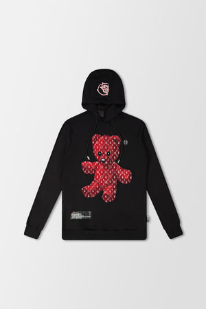 Philipp Plein Hoodie Teddy Bear Black/Red