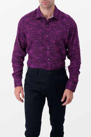 Robert Graham Glory Days Shirt Purple