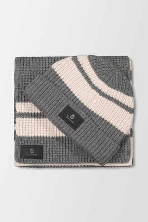 Billionaire Beanie Stripes Grey/Beige
