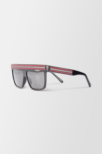 Philipp Plein Sunglasses - Black/Red/Mirror