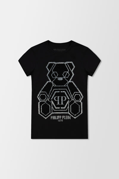 Philipp Plein T-shirt Round Neck SS Teddy Bear Black