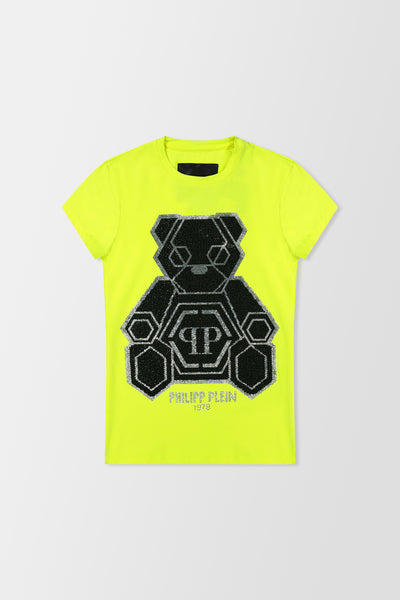 Philipp Plein T-shirt Round Neck SS Teddy Bear Yellow