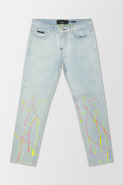 Philipp Plein Boyfriend Crystal jeans Hot'n'Cold