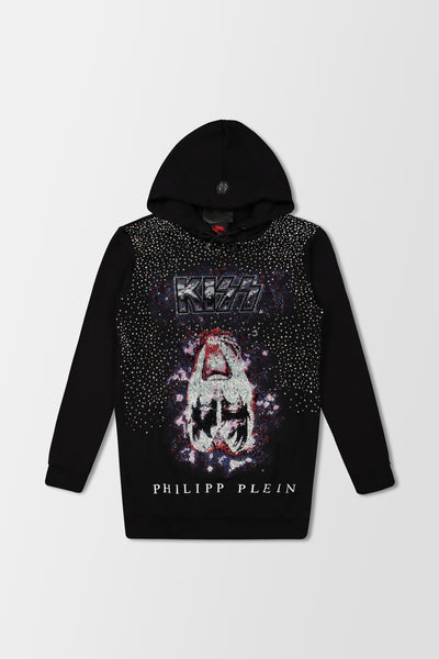 Philipp Plein Hoodie Sweatshirt Dress Rock B Black