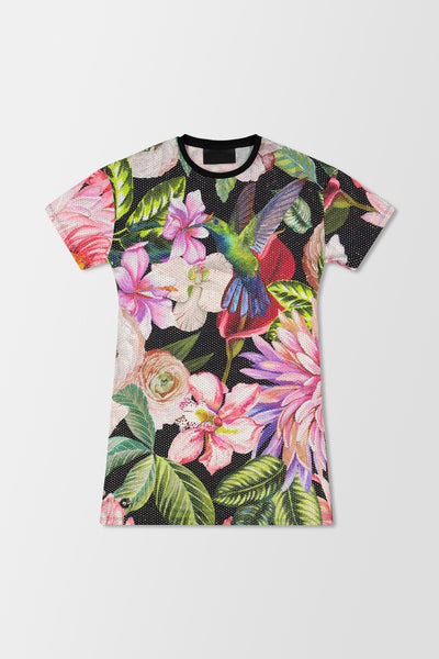 Philipp Plein T-Shirt Dresses Flowers Black