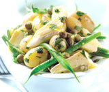 Warm Bean Salad with British Brie