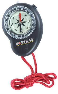 NORTH 49® LED LIGHT COMPASS WITH GLOW IN THE DARK FACE