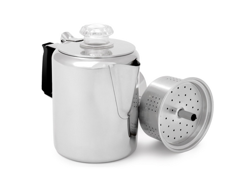 Glacier Stainless Coffee Percolator with Silicone Handle