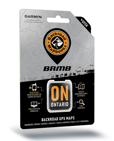 Backroad Mapbooks GPS Maps - SD Card Ontario V9