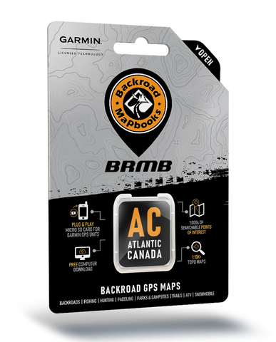 NEW - Backroad Mapbooks GPS Maps - SD Card Atlantic Canada V2020