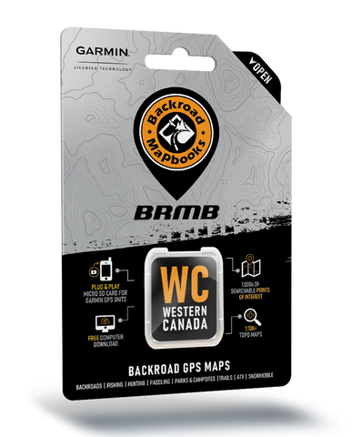 NEW - Backroad Mapbooks GPS Maps - SD Card Western Canada V2020