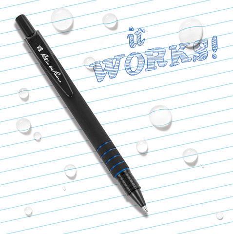 Durable Clicker Pen -Blue Ink (#93B)