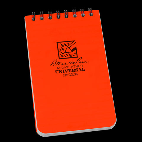 "Hi-Viz Pocket Notepad Top-Spiral- 3""x 5"" (#OR35)"