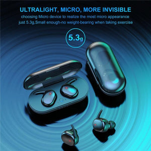 Y30 TWS Bluetooth 5.0 Portable Waterproof Touch Headset 3D Stereo Sound Earphone With Charging Box - MoniiGarmenx