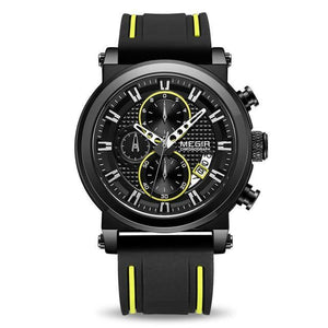 MEGIR Luxury Brand Quartz Big Dial Sport Wristwatches Chronograph Watch
