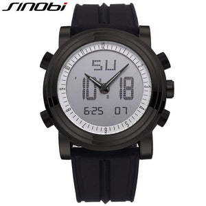 SINOBI Sports Digital Quartz Wristwatches Waterproof Quartz Watch Geneva Hybird Watch