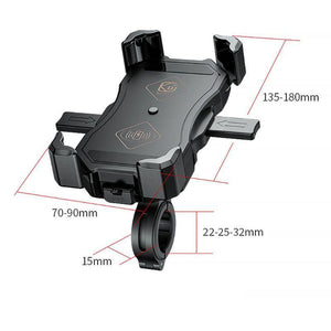 12V Motorcycle QC3.0 USB Qi  Mount Holder Stand Wireless Charger