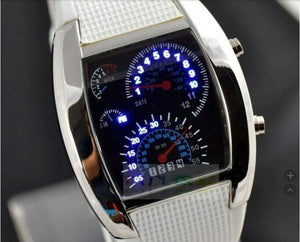 Soxy Unique LED Digital Electronic Sport Wristwatch Rubber Band Clock Watch