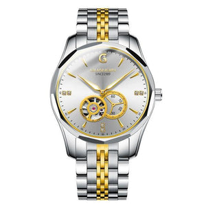 GUANQIN Design Brand Luxury Automatic Tungsten Steel Wristwatch Waterproof Business Sport Mechanical Watch - MoniiGarmenx