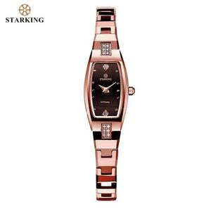 STARKING Quartz Sapphire Crystal Tungsten Steel Wristband Small Dial Clock Watch