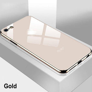 Apple iPhone 7 8 6s Plus X XR XS 11 Pro Max Luxury Tempered Glass Slim Phone Case||  iPhone 11 Pro Mirror Glossy Cover Case