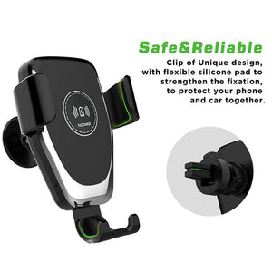 iPhone 11 Pro Max Xs 8 |Samsung S20 S10 S9 Car Wireless Fast Charging Stand Holder USB Quick Bracket Charger