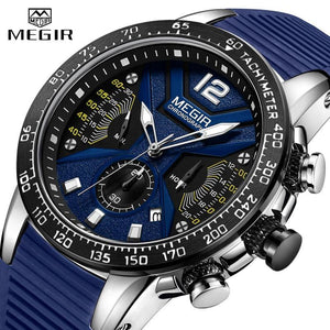 MEGIR Luxury Brand Military Sport Chronograph Quartz Clock Watch - MoniiGarmenx