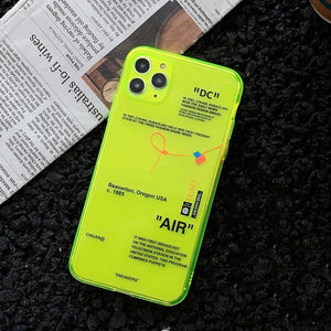 DC Air Fluorescence Sport Brand White Label Phone Case For iPhones - MoniiGarmenx