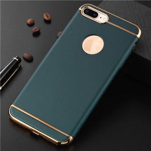 WTR Luxury Plating Shockproof Phone Case For iPhones