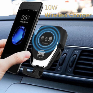 Wild New Mount Qi Fast Wireless Car Phone Holder Charger - MoniiGarmenx