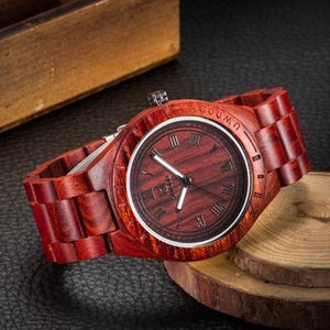 UWOOD Wooden Wrist Natural Calendar Display Bangle Watch